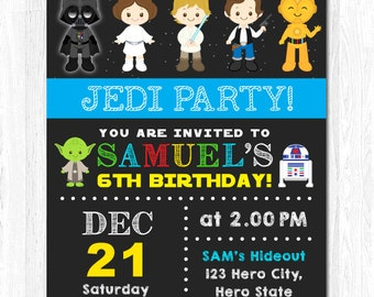 Star Wars Invitation, Star Wars Birthday Invitation, Star Wars Invite, Star Wars Birthday Invite