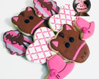 Cowgirl Party Favor, Cowgirl Cookies, Cowgirl Birthday, Cowgirl Party, Horse Cookie, Rodeo Birthday, Cow Girl Party Favor, Rodeo Party Favor