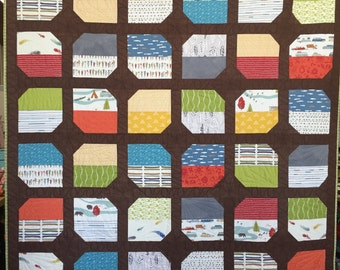 """Half Moon Bay Quilt Top Kit approx. 62"""" by 82"""""""