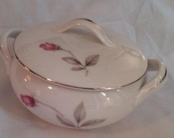 Tea Rose fine china sugar bowl, Empress china sugar bowl, kitchen serving sugar bowl,