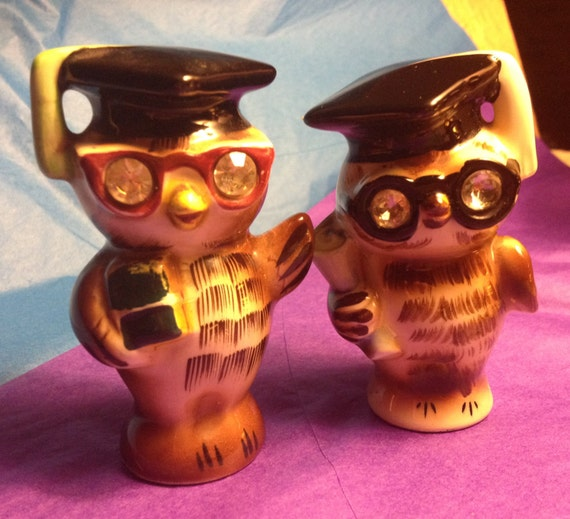 Nerds Rule Lefton Owl Salt And Pepper Shakers Beautiful