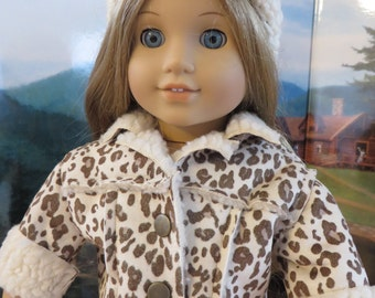 18 Inch Doll Clothes - Faux Suede Jacket with Hat