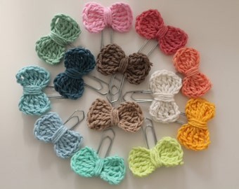 Clip loop - crochet, stained