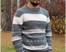 Pure wool sweater for men