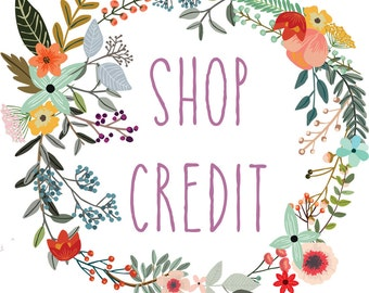 shop credit / gift certificate
