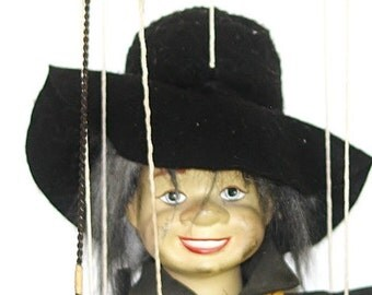 Marionette Puppet, Porcelain Puppet, Marionette Doll, Porcelain Doll, Chimney Sweep Marionette, Antique Marionette