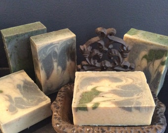SAGE AND LEMONGRASS...A Moisturizing Soap with Mango and Cocoa Butter, Bentonite Clay, Activated Charcoal, and Comfrey