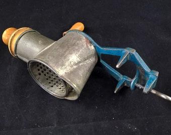 Blue Vintage grinder nut grinder kitchen grinder grinder manual grinder retro grinder antique grinder almond grinder vegetable grinder