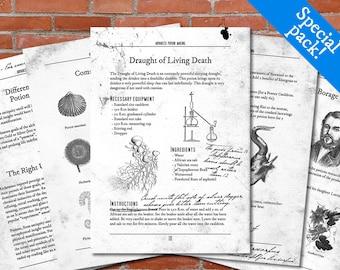 PRINTABLE Advanced Potion Making - Harry Potter Print, Potion Book