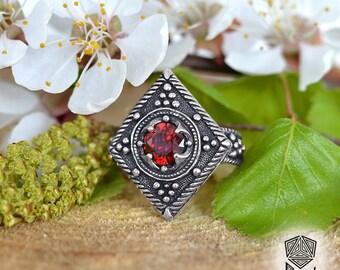 Pagan ring. Slavic jewellery. Ancient ornament of fertility