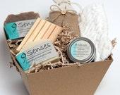 CORPORATE MEDIUM GIFT set - free shipping 2 Soaps Gift Basket - Holiday Gift - Gift Basket - Handmade Soap Gift Box Set