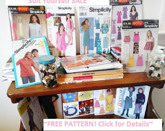 FREE PATTERN | Suit Yourself SALE | Buy 6 or Purchase 40 Dollars in Patterns & Receive 1 Free Pattern | You Choose | See Details Below