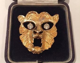 Vintage Cat brooch, rare fantastic item
