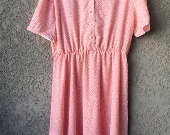 Peach polka dot Blaire Boutique dress