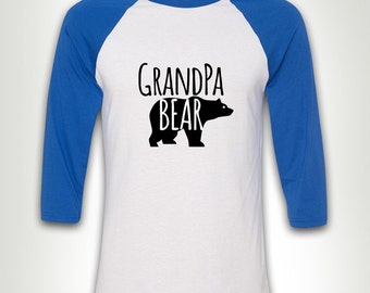 Grandpa Bear - Gift for Dad Papa Poppy New Daddy T-shirt Father's Day Gift for Grandfather MB349