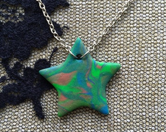 """Cosmic Star necklace - """"Deep Space"""""""