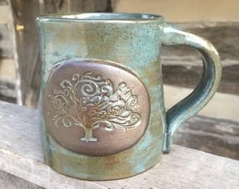 Teal Tree of Life Mug