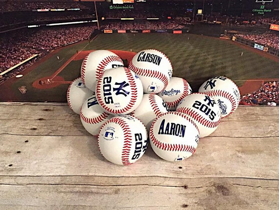 end of season baseball awards  Set of 14 Personalized Team Baseballs-End of Season Trophy