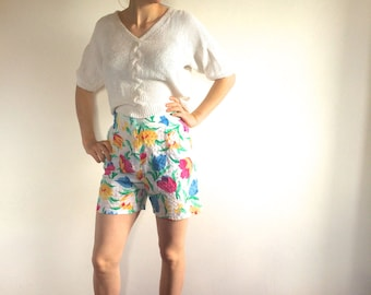 Floral Cheesecloth Mini shorts