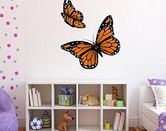 Monarch Butterflies Set of 2 Wall Decal