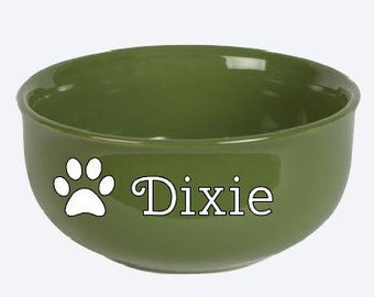 Personalized Pet Food or Water Bowl with Name, Cat Bowl, Dog Bowl, Monogrammed, Personalized
