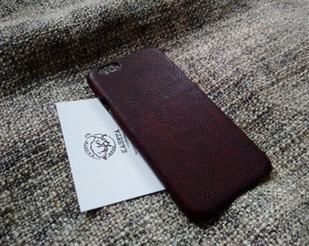 iPhone 7, 6s, 6 leather case 'Chocolate'