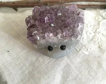 Amethyst Hedgehog, carved amethyst, amethyst