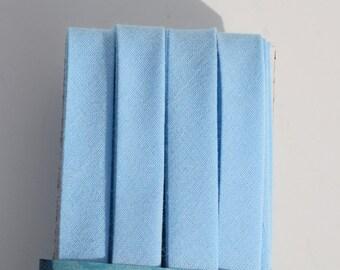 Light Blue Double Fold Handmade Bias Tape