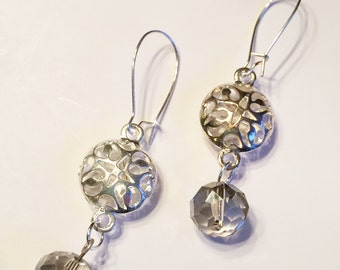 silver tone dangle earrings