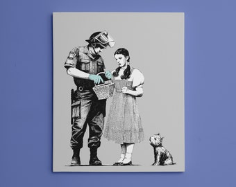 "Banksy, Dorothy Police Search (8"" x 10"") - Canvas Wrap Print"