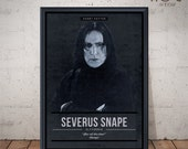 Severus SNAPE Poster - Quote Retro Movie Poster - Movie Print, Film Poster, Wall Art, Harry Potter Poster