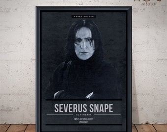 Severus SNAPE - Harry Potter Characters - Unique Poster Design
