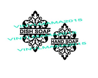 Dish Soap - Hand Soap - Decal Only