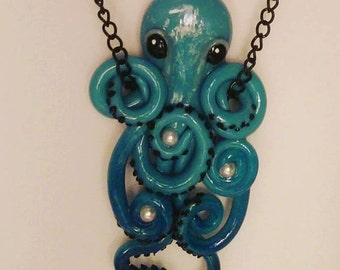 Custom Octopus Necklace