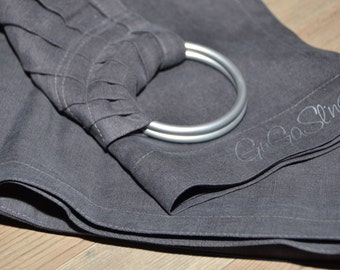 GuGaSling Agouti, Baby ring sling, Baby wrap, Baby carrier, Linen, Gift bag