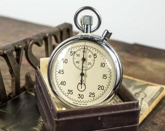 USSR Vintage Mechanical Stopwatch-Chronometer 2 Button  Soviet, Mechanical stopwatch Sekonda