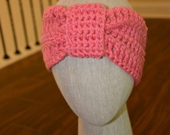 Classic Knotted Crochet Bubble Gum Headband