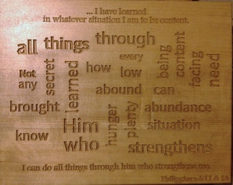 Philippians 4:13 Wall Plaque (with Free Shipping)