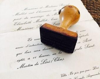 Vintage Rubber Ink Stamp Belonging to Alfred Devisse