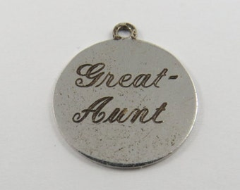 Great Aunt Sterling Silver Charm or Pendant.