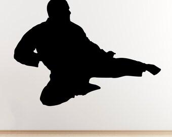 Flying Kick Wall Sticker - Taekwondo / Karate / Mixed Martial Arts Sticker