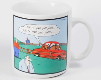 1986 Far Side Mug - The Far Side - Gary Larson - Funny mug- funny cup-cartoon mug-animal humor