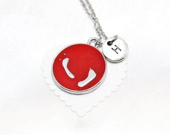 mother necklace, personalized Initial necklace, baby footprint charm, mother's day gift, personalized monogram,customized