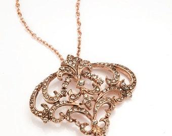 Rose Gold Art Nouveau Pendant