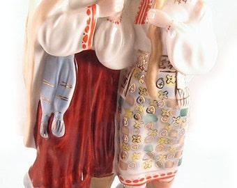 UKRAINIAN COUPLE Russian Soviet Porcelain Figurine