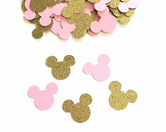 Minnie Mouse Birthday - Gold And Pink Confetti - Minnie Mouse Confetti - Minnie Mouse Birthday Party - Minnie Mouse Party Decorations