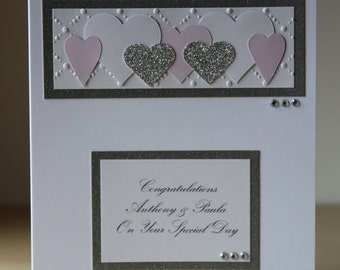Personalised Multi Heart Anniversary/Wedding Card