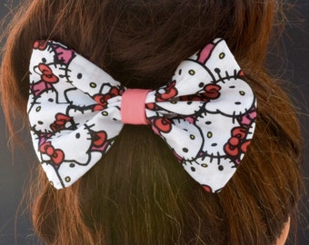 Hello Kitty bow, baby bow, hair clip, hello kitty hair accessory, hello kitty hair clip, baby hair clip, kawaii style, pink bow, hellokitty