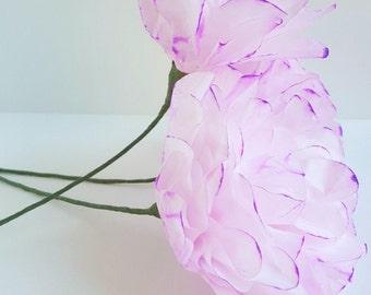 Individual Violet Purple Ombre Peonies-Paper Flowers-Wedding Paper Flower Bouquet,Bridesmaid Bouquet,Bridal Shower,Centerpiece,Baby Shower