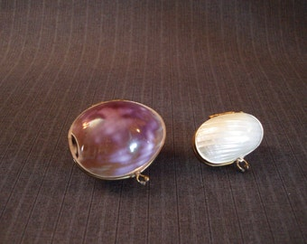 Pair of Shell Pill Boxes [Vintage]